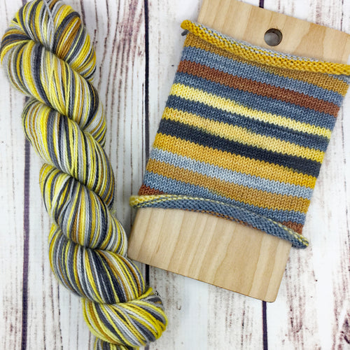 History Has Its Eyes On You - hand-dyed self-striping sock yarn