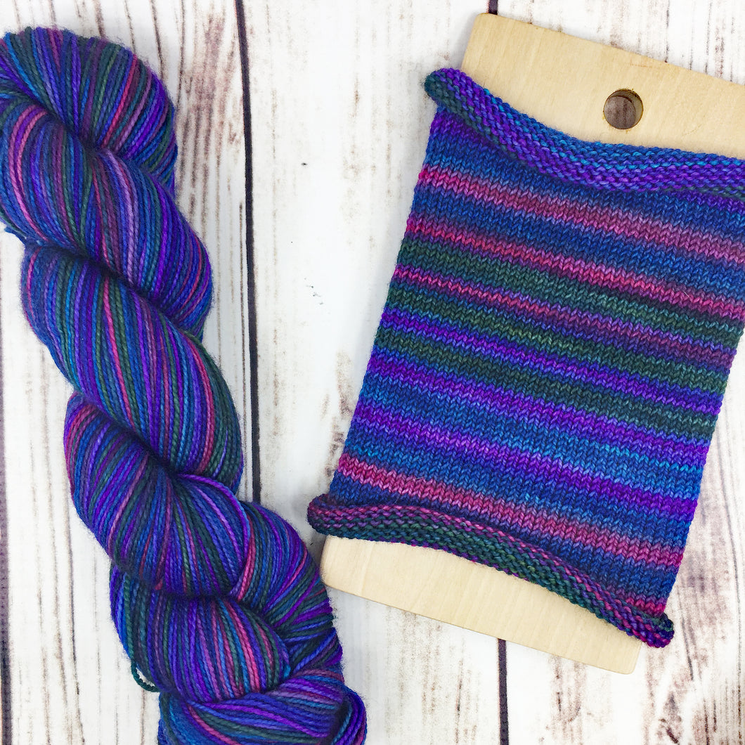 I Believe In Salamanders - hand-dyed self-striping sock yarn