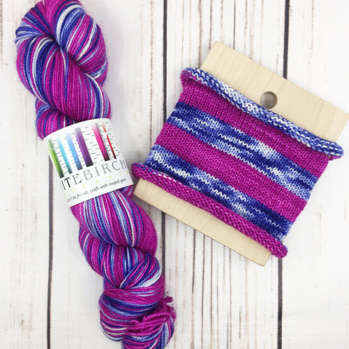 In The Sky With Diamonds - hand-dyed self-striping sock yarn