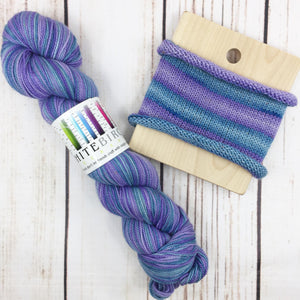 It's A Blue Day - hand-dyed self-striping sock yarn