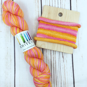 Let All The Flowers Bloom - hand-dyed self-striping sock yarn