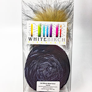 Last minute wow factor hat kit - slate blue to black