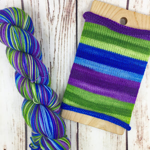 Nolite Te Bastardes Carborundorum - hand-dyed self-striping sock yarn
