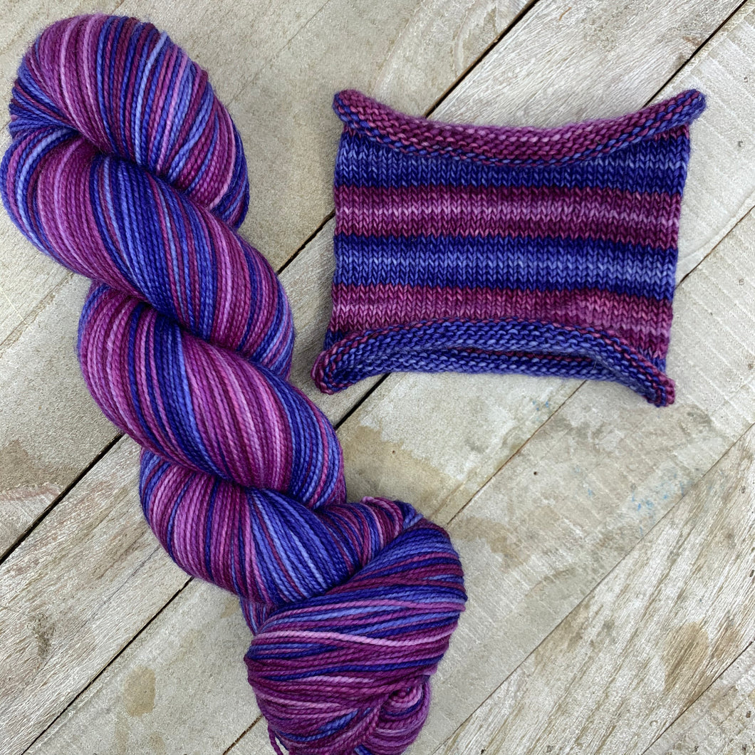Notorious RBG - hand-dyed self-striping sock yarn