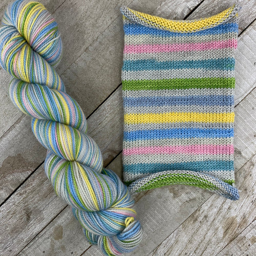 Pastel, Pastoral - hand-dyed self-striping sock yarn