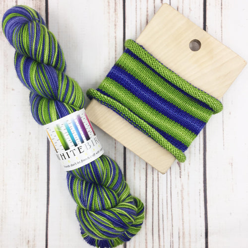 Psyops - hand-dyed self-striping sock yarn