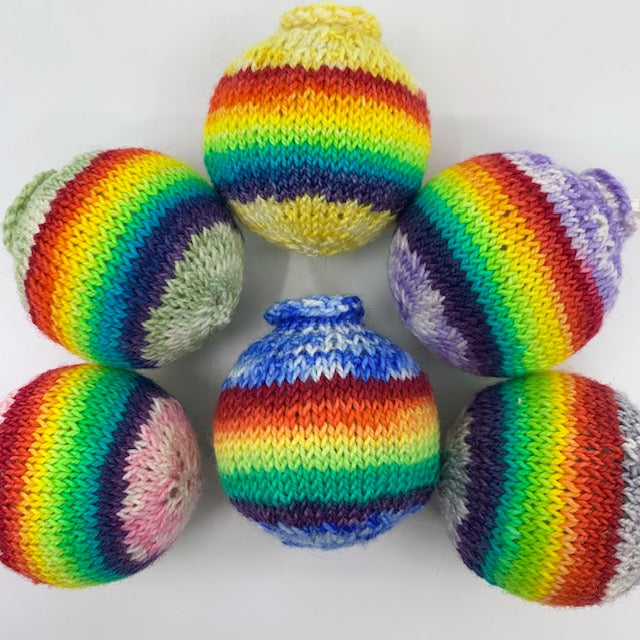 Rainbow baubles!