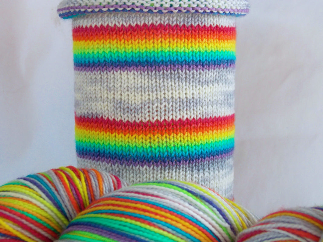 Rainbow Warrior - hand-dyed self-striping sock yarn