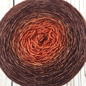 Rust to brown gradient cake - 500 yards