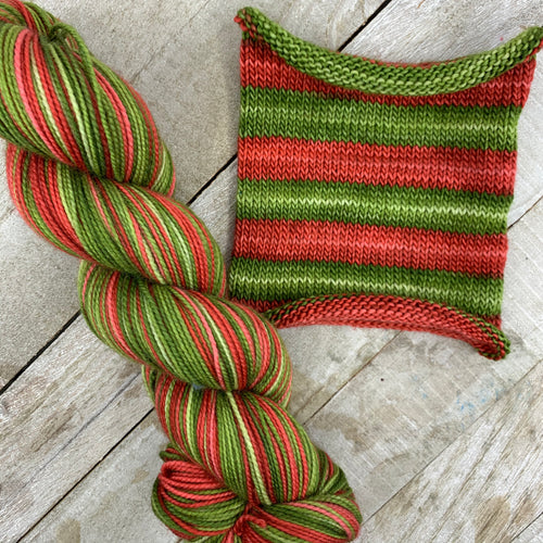 Sentimental Holiday - hand-dyed self-striping sock yarn