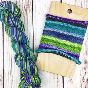 Squad Goals - hand-dyed self-striping sock yarn