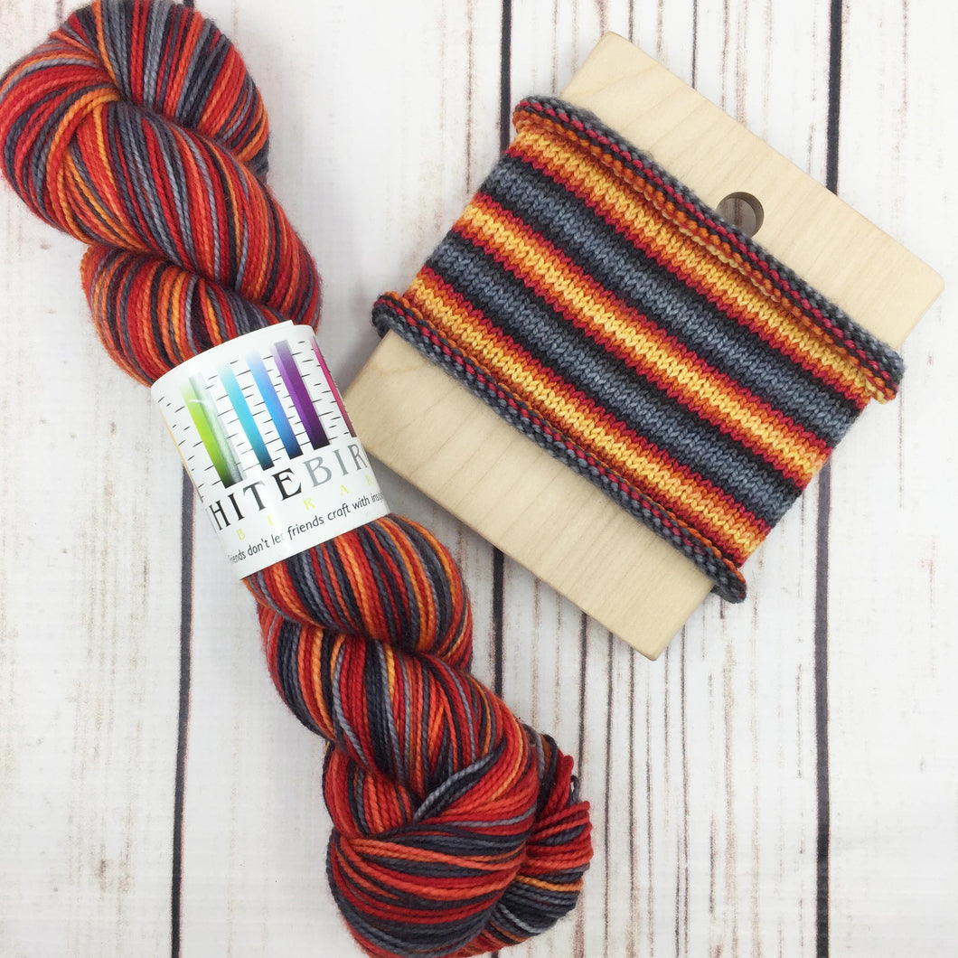 Strangefire - hand-dyed self-striping sock yarn