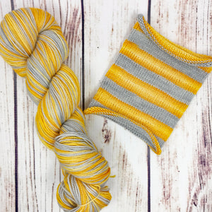 My Sun And Stars - hand-dyed self-striping sock yarn