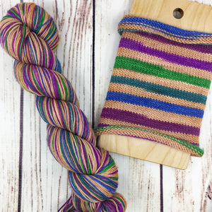 Time For A Nude Deal - hand-dyed self-striping sock yarn
