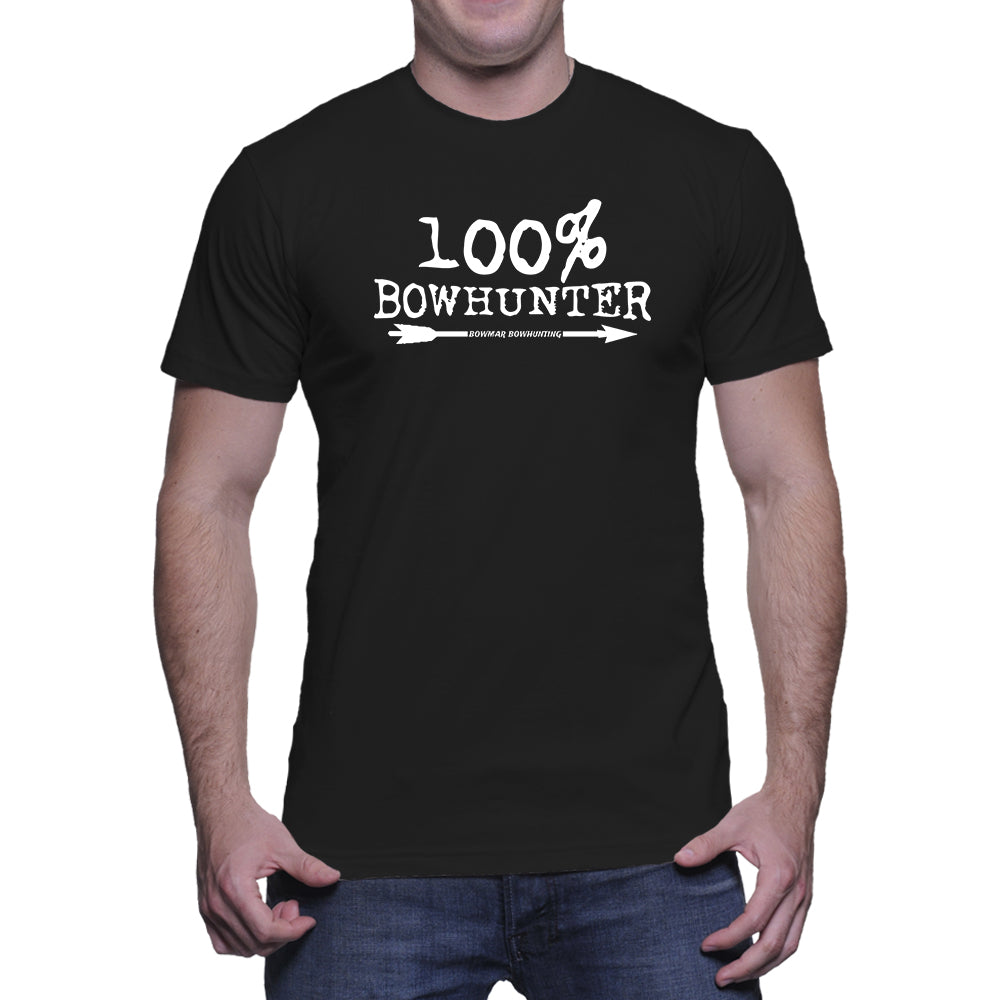 100% Bowhunter Mens Tee (White Print)