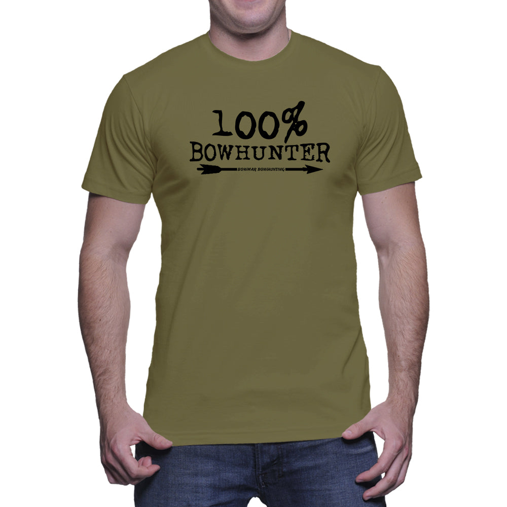 100% Bowhunter Mens Tee (Black Print)