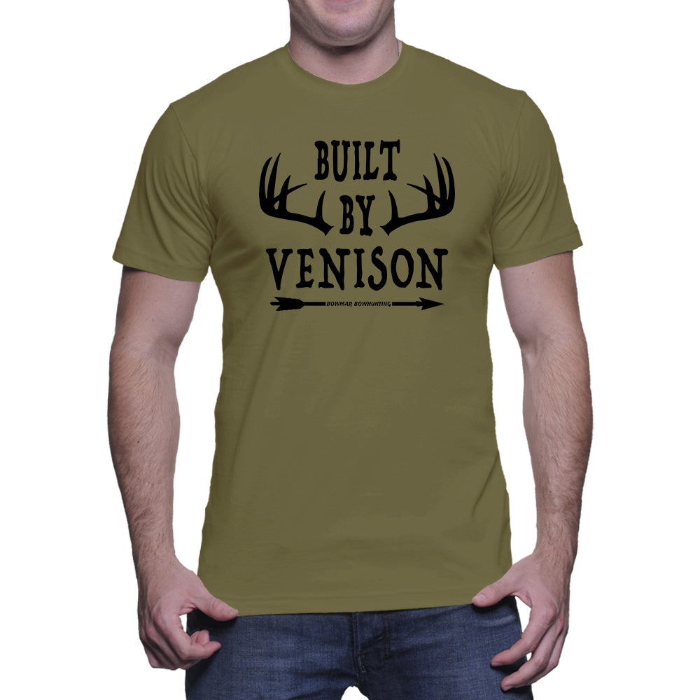 Built By Venison Mens Tee (Black Print)