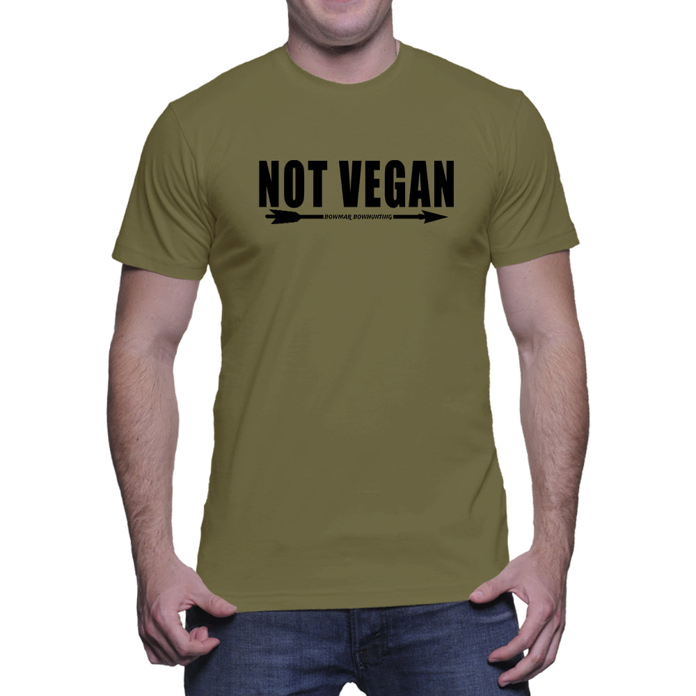 Not Vegan Mens Tee (Black Print)