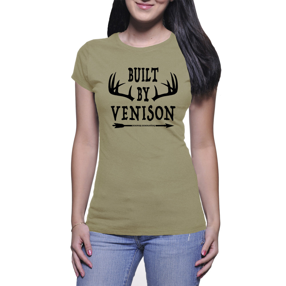 Built By Venison Womens Tee (Black Print)