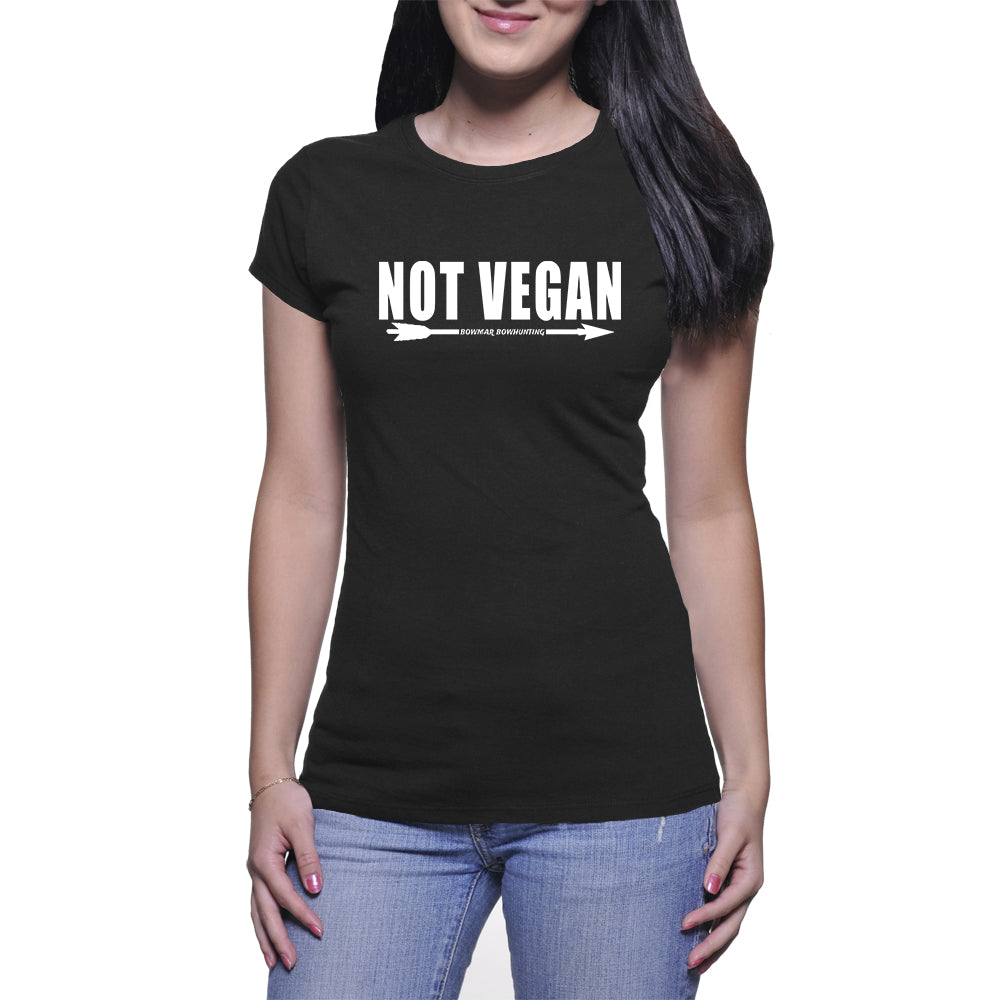 Not Vegan Womens Tee (White Print)