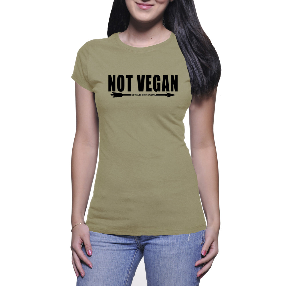 Not Vegan Womens Tee (Black Print)