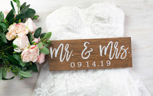 Load image into Gallery viewer, Mr and Mrs sign with Wedding Date