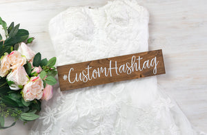 Wooden Hashtag Sign