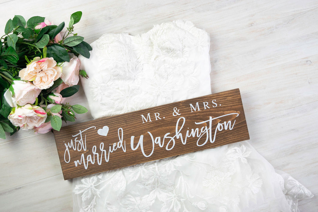 Personalized Just Married Sign