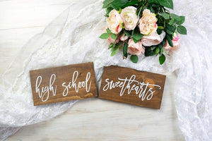 High School Sweethearts Chair Signs