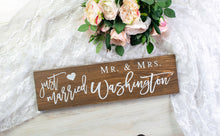 Load image into Gallery viewer, Personalized Just Married Sign