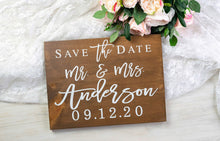 Load image into Gallery viewer, Save the Date Sign with Last Name and Wedding Date