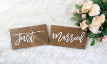 Load image into Gallery viewer, Just Married Wedding Chair Signs