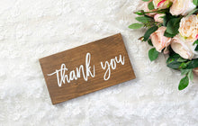 Load image into Gallery viewer, Modern Wooden Thank You Sign