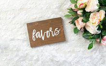 Load image into Gallery viewer, Modern Wooden Favors Sign