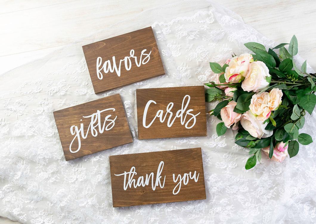 Party Sign Set - Cards, Gifts, Favors, and Thank You