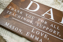 Load image into Gallery viewer, Thank You Dad Sign - Personalized Fathers Day Gift