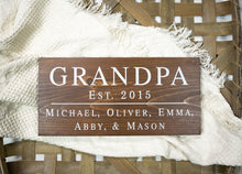Load image into Gallery viewer, Grandpa Sign - Personalized Gift for Grandfather