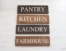 Load image into Gallery viewer, Farmhouse Sign Set - Pantry Sign - Kitchen Sign - Laundry Sign - Farmhouse Sign - Farmhouse Decor