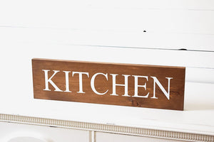 Rustic Wooden Kitchen Sign