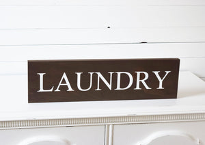 Rustic Wooden Laundry Room Sign