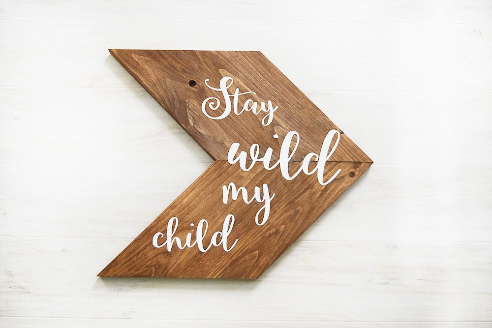 Woodland Stay Wild My Child Sign