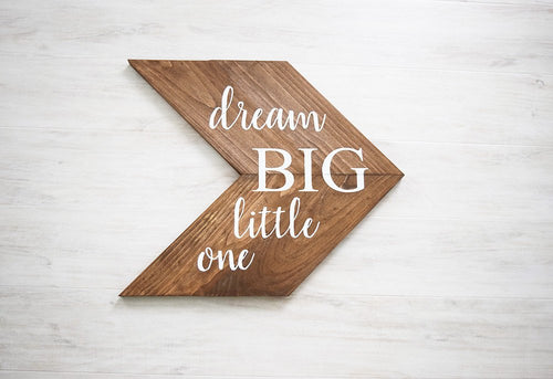 Woodland Dream Big Little One Nursery Sign