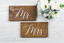 Load image into Gallery viewer, Mr. and Mrs. Wedding Chair Signs