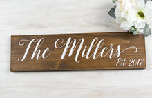 Load image into Gallery viewer, Last Name Sign for Bridal Shower or Anniversary Gift