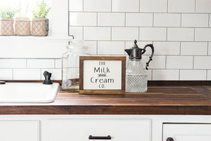 Farmhouse Style The Milk and Cream Co Sign