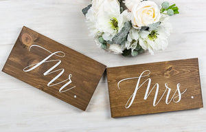 Mr. and Mrs. Wedding Chair Signs