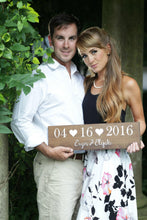 Load image into Gallery viewer, Wedding Date Sign with Names and Hearts