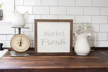 Load image into Gallery viewer, Farmhouse Style Market Fresh Sign