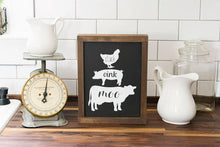 Load image into Gallery viewer, Farmhouse Kitchen Oink Cluck Moo Sign