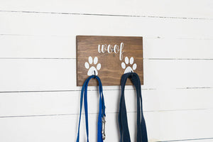 Woof Dog Leash Holder for Two Leashes